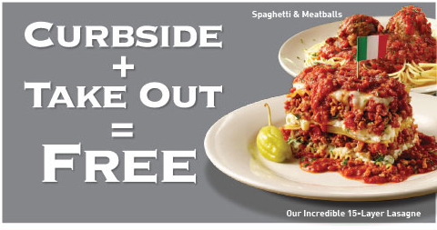 Spaghetti Warehouse BOGO Entrees