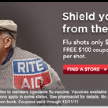 27 99 flu shot free 100 coupon book at rite aid free 4 seniors