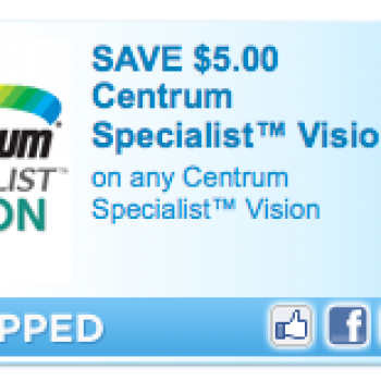 Centrum Specialist Vision Coupon