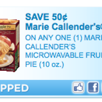 Marie Callender's Fruit Pie Coupon