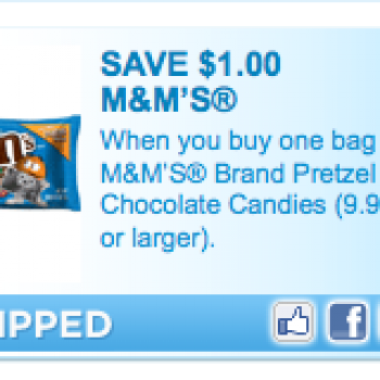 """""""High Value"""" M&M's Coupon"""