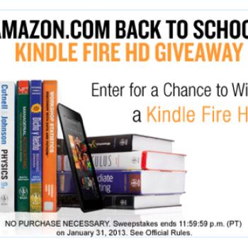 Amazon: Kindle Fire HD Giveaway