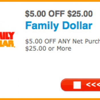 Family Dollar: $5 Off $25 Coupon - Free 4 Seniors