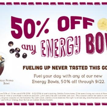 jamba juice half off energy bowls coupon free 4 seniors