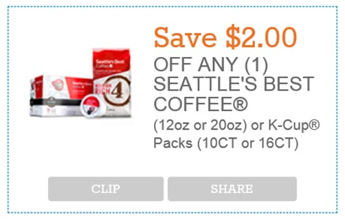 New Seattle S Best Coffee Coupon Free 4 Seniors
