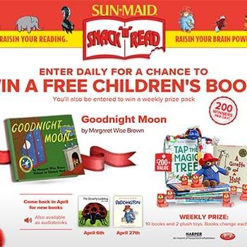 Sun-Maid: Win a Free Children's Book