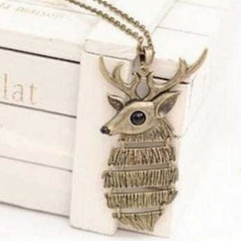 Brass Deer Pendant and Necklace Only $4.98 + Prime
