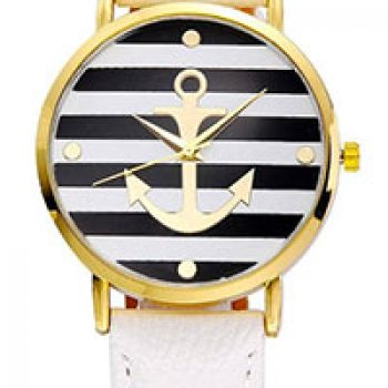 Women's Leather Strap Anchor Watch Just $4.55 + Free Shipping