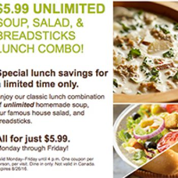 olive garden lunch 699 unlimited soup salad breadsticks - Olive Garden Lunch Time