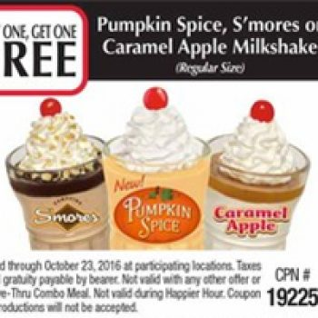image about Steak and Shake Coupons Printable identify Steak N Shake: BOGO Totally free Drop Favored Milkshakes - Free of charge 4