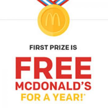Win McDonald's For a Year - Ends Today