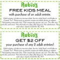 Rubio's: Free Kids Meal W/ Entree Purchase