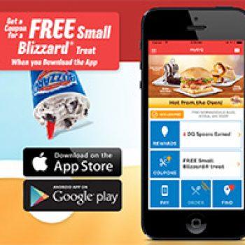 DQ: Free Small Blizzard W/ App Download