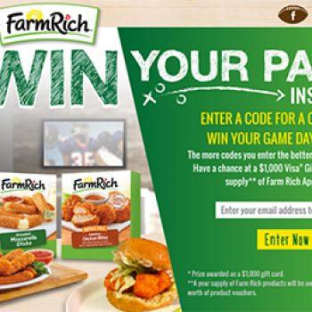 Farm Rich: Win a $1,000 Visa Gift Card