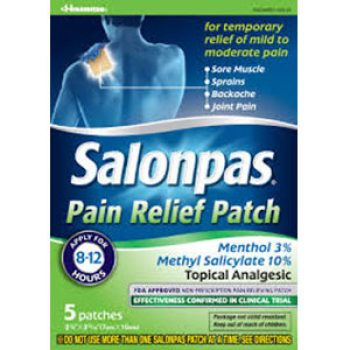 Free Salonpas Pain Relieving Patch Samples