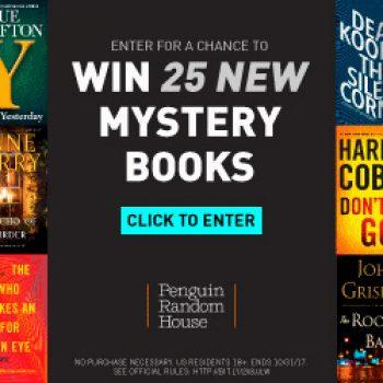 Win 25 Mystery Books
