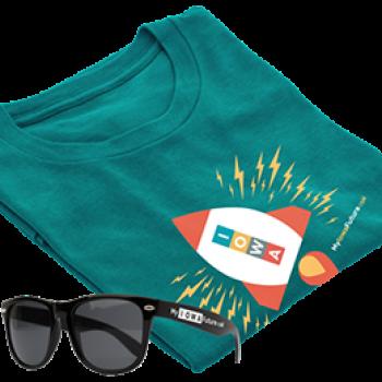 Free Iowa T-Shirt & Shades