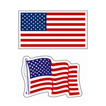 Free American Flag Decals W/ SASE