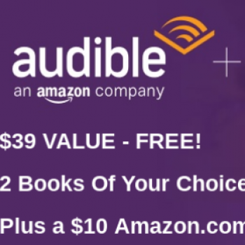 Free $10 Amazon Gift Card W/ Audible Trial
