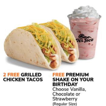 Del Taco: 2 Free Tacos